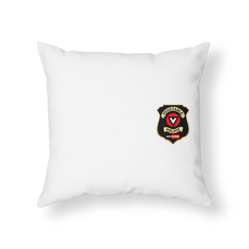 Vegetable Police (just badge)  Home Throw Pillow by Vegetable Police