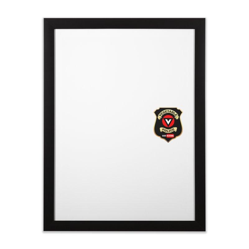 Vegetable Police (just badge)  Home Framed Fine Art Print by Vegetable Police