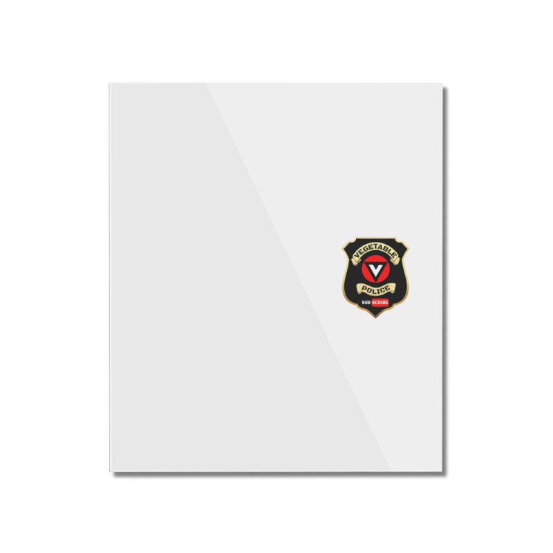 Vegetable Police (just badge)  Home Mounted Acrylic Print by Vegetable Police