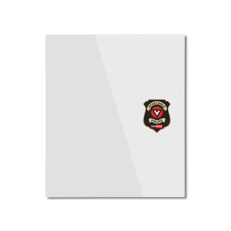 Vegetable Police (just badge)  Home Mounted Aluminum Print by Vegetable Police