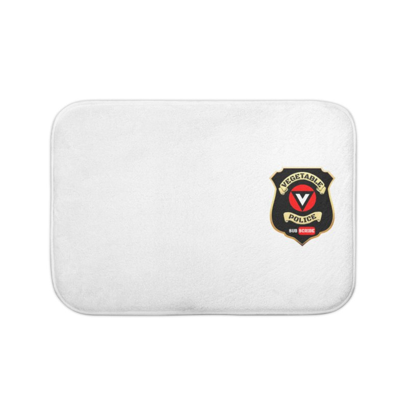 Vegetable Police (just badge)  Home Bath Mat by Vegetable Police