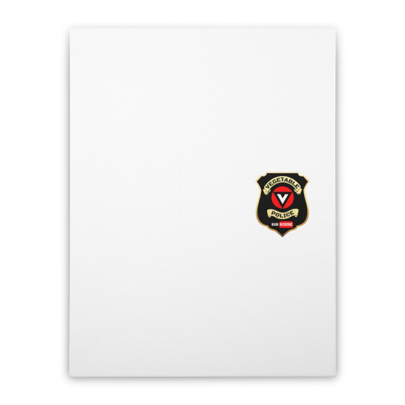 Vegetable Police (just badge)  Home Stretched Canvas by Vegetable Police
