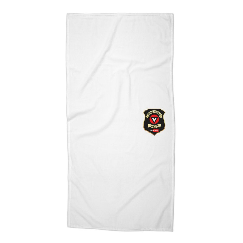Vegetable Police (just badge)  Accessories Beach Towel by Vegetable Police