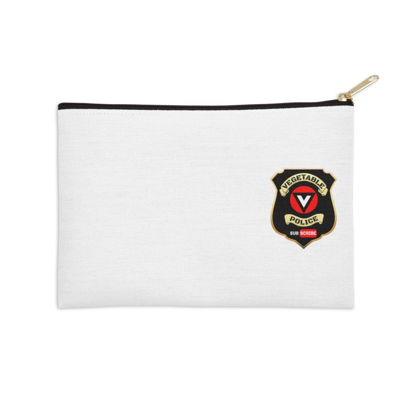 Vegetable Police (just badge)  Accessories Zip Pouch by Vegetable Police