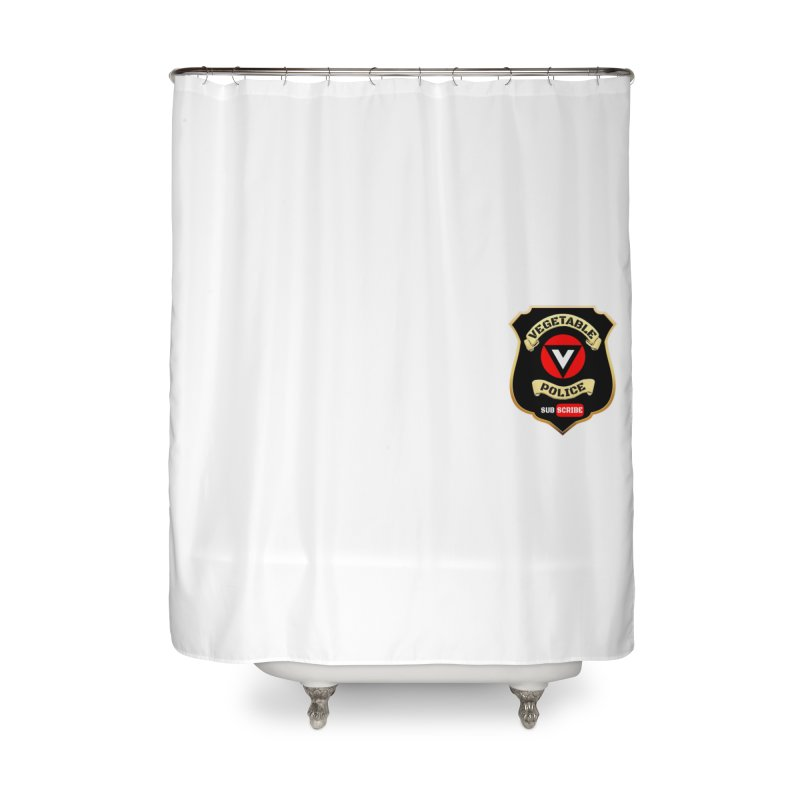 Vegetable Police (just badge)  Home Shower Curtain by Vegetable Police