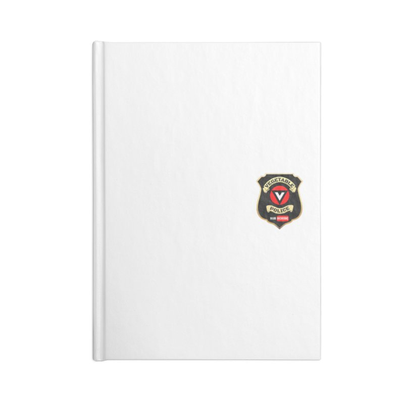 Vegetable Police (just badge)  Accessories Notebook by Vegetable Police