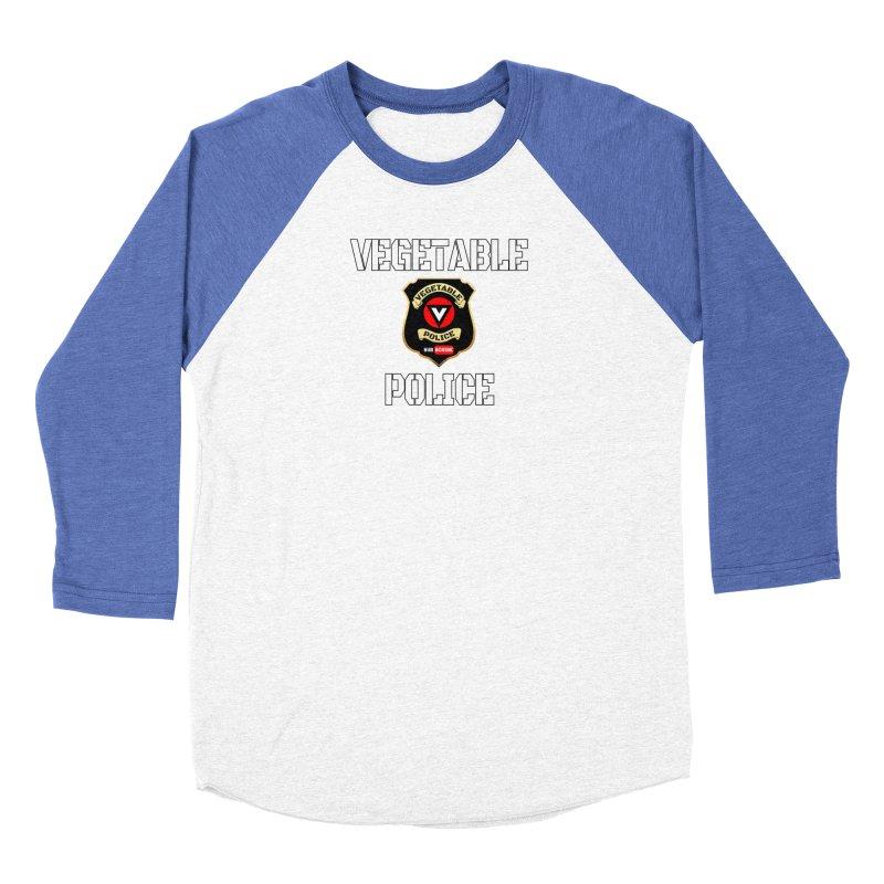 Vegetable Police Men's Baseball Triblend T-Shirt by Vegetable Police