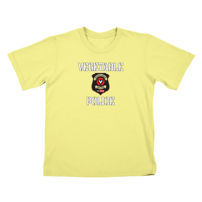 Vegetable Police Kids T-shirt by Vegetable Police