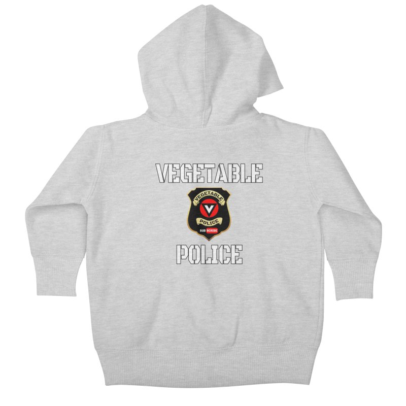 Vegetable Police Kids Baby Zip-Up Hoody by Vegetable Conspiracies