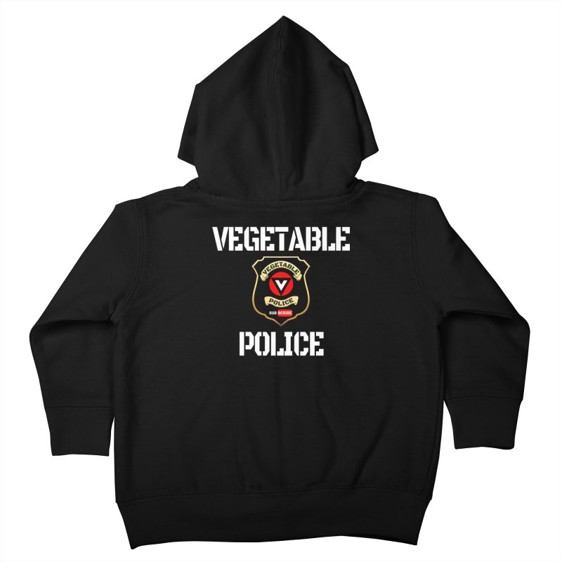Vegetable Police Kids Toddler Zip-Up Hoody by Vegetable Conspiracies