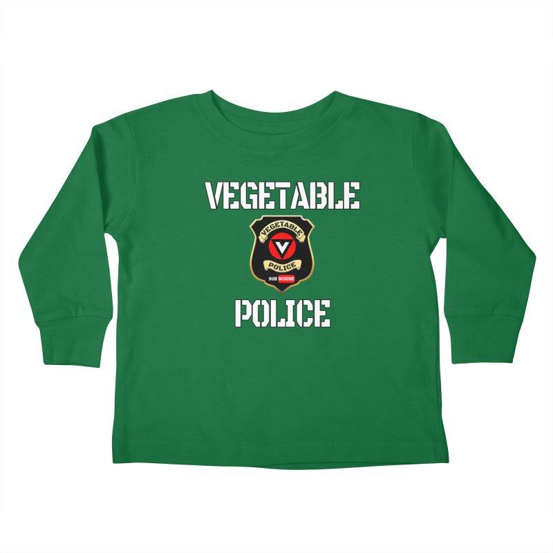 Vegetable Police Kids Toddler Longsleeve T-Shirt by Vegetable Police