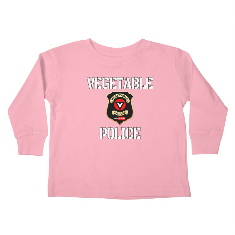 Vegetable Police Kids Toddler Longsleeve T-Shirt by Vegetable Police