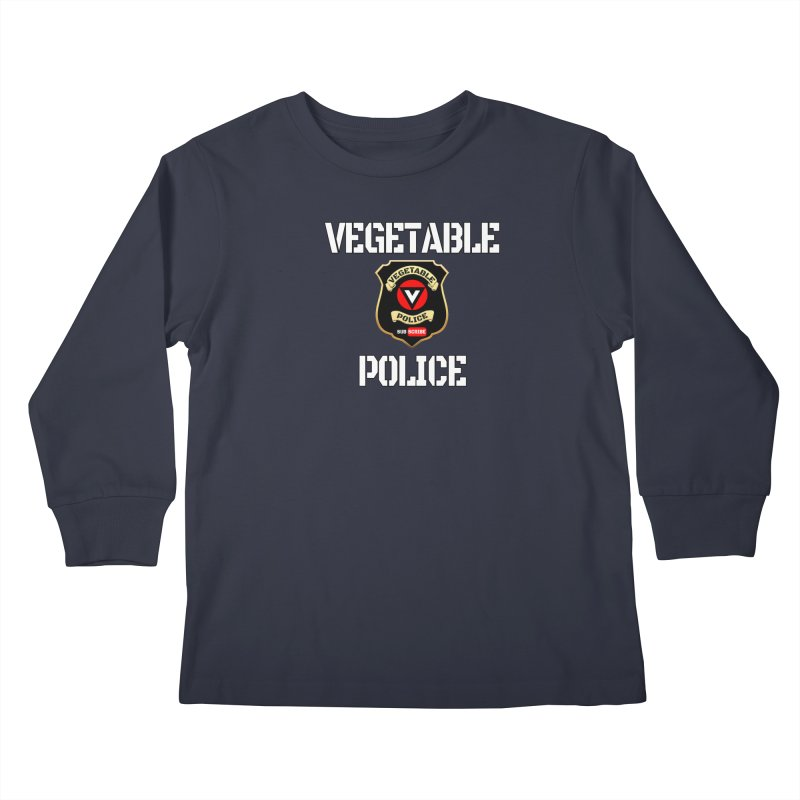 Vegetable Police Kids Longsleeve T-Shirt by Vegetable Police