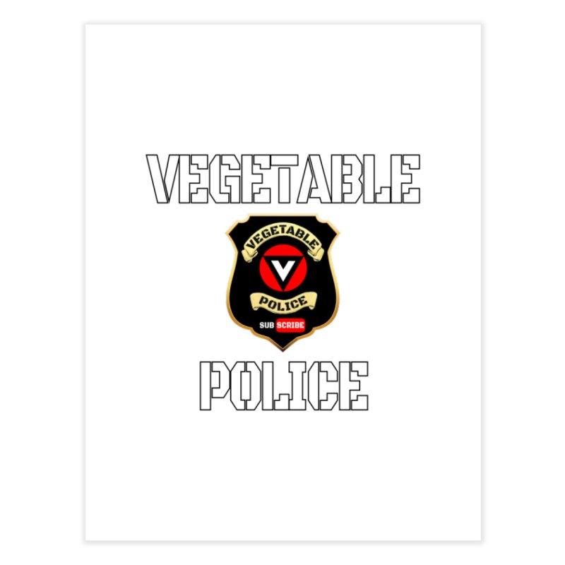 Vegetable Police Home Fine Art Print by Vegetable Police