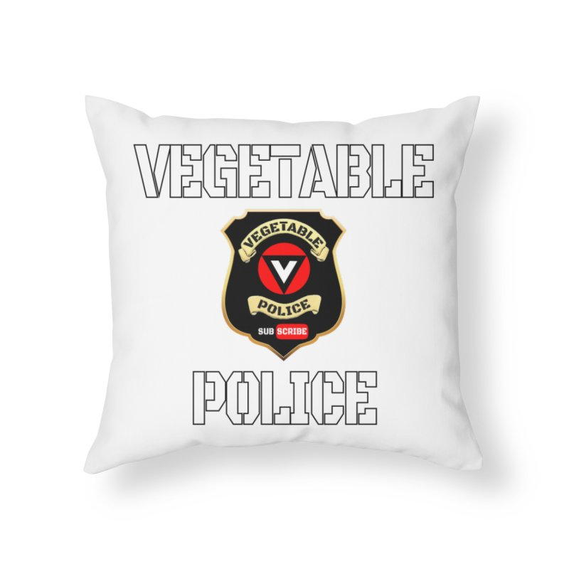 Vegetable Police Home Throw Pillow by Vegetable Police