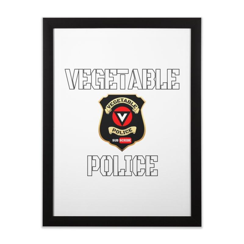 Vegetable Police Home Framed Fine Art Print by Vegetable Police