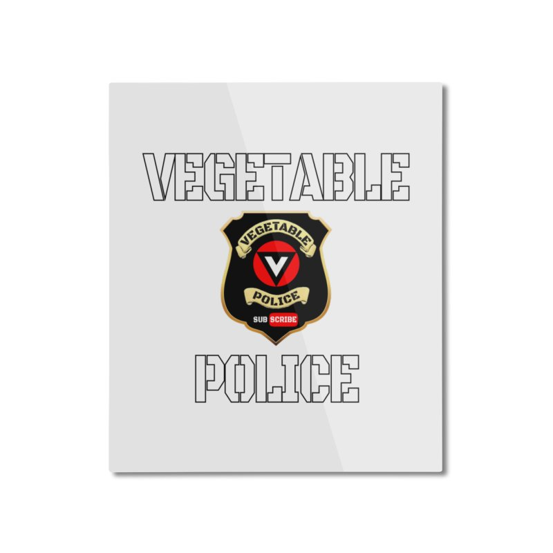 Vegetable Police Home Mounted Aluminum Print by Vegetable Police