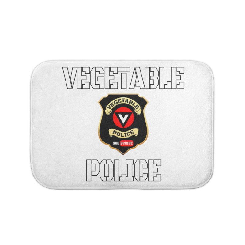 Vegetable Police Home Bath Mat by Vegetable Police