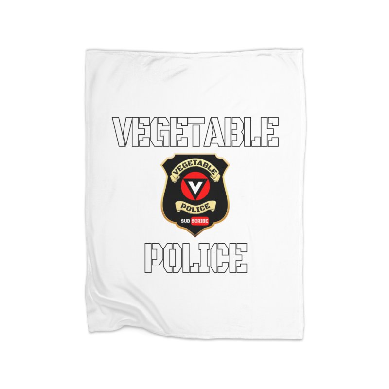 Vegetable Police Home Blanket by Vegetable Police
