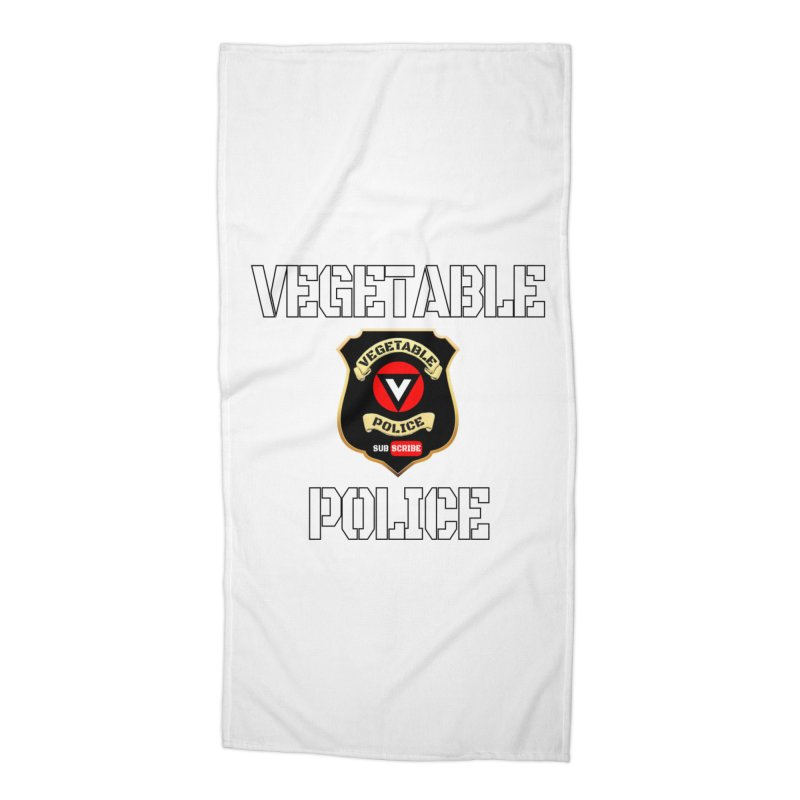 Vegetable Police Accessories Beach Towel by Vegetable Police