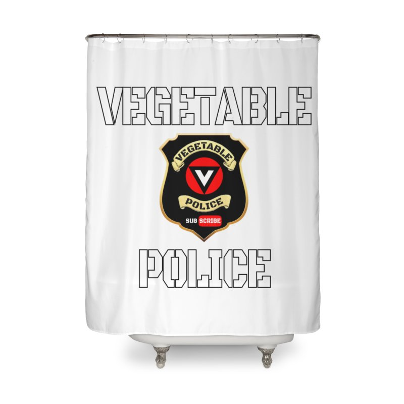 Vegetable Police Home Shower Curtain by Vegetable Police