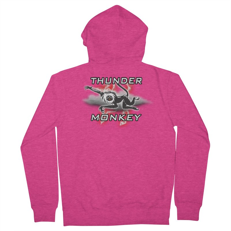 Thunder Monkey 2 Women's French Terry Zip-Up Hoody by Vegetable Police