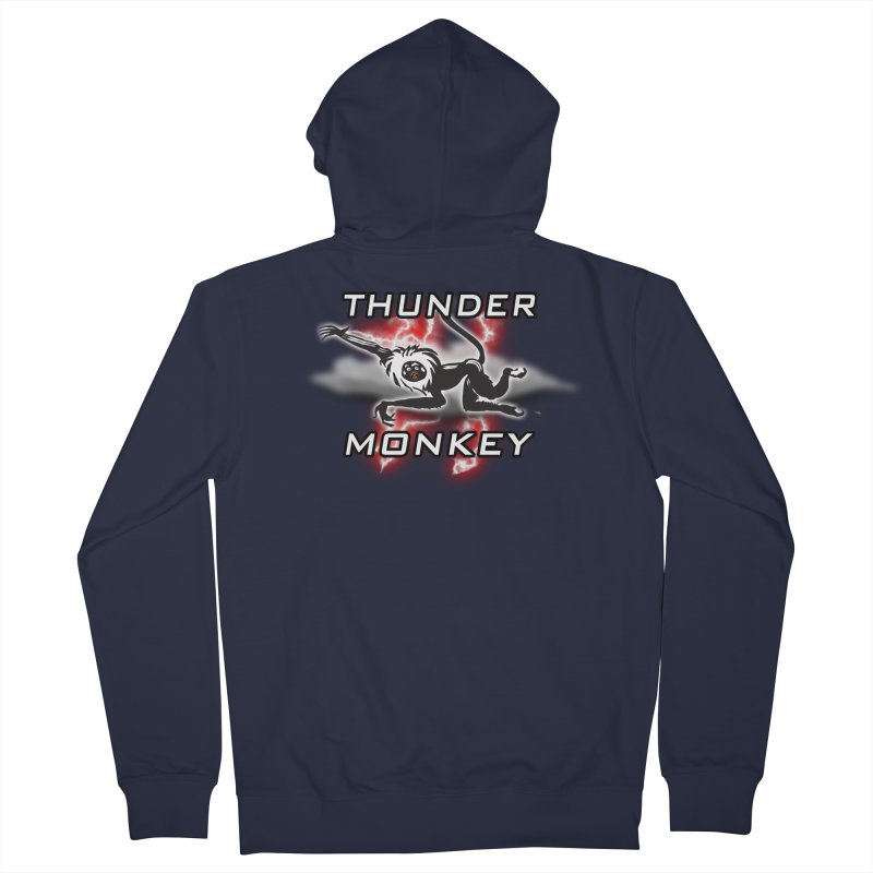 Thunder Monkey 2 Men's French Terry Zip-Up Hoody by Vegetable Police