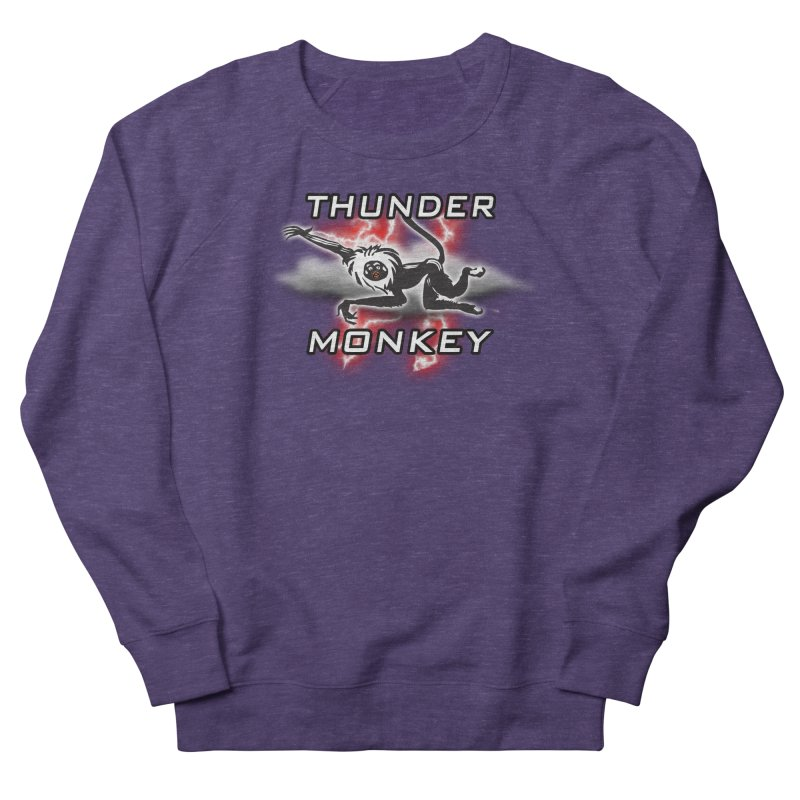 Thunder Monkey 2 Men's French Terry Sweatshirt by Vegetable Police