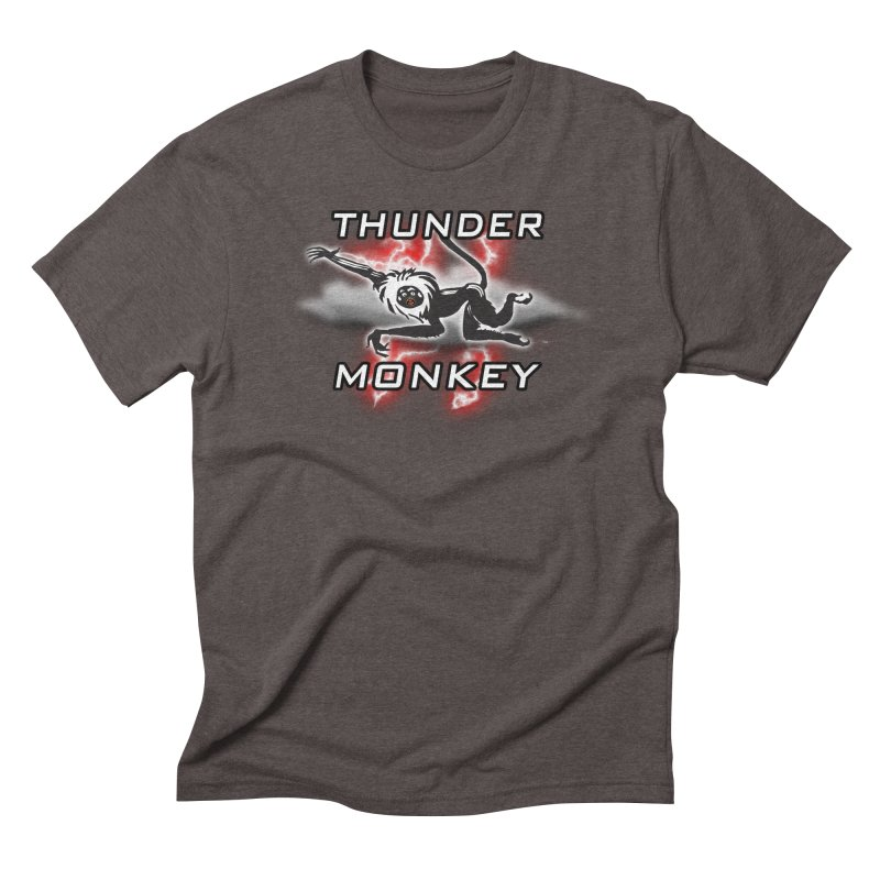 Thunder Monkey 2 Men's Triblend T-Shirt by Vegetable Police