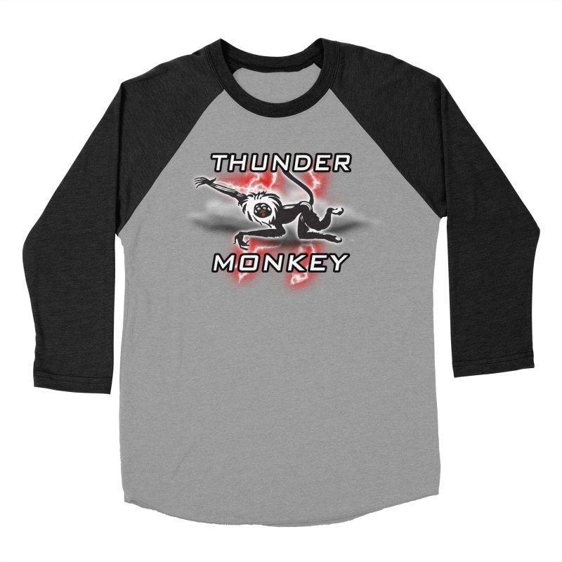Thunder Monkey 2 Women's Baseball Triblend T-Shirt by Vegetable Police