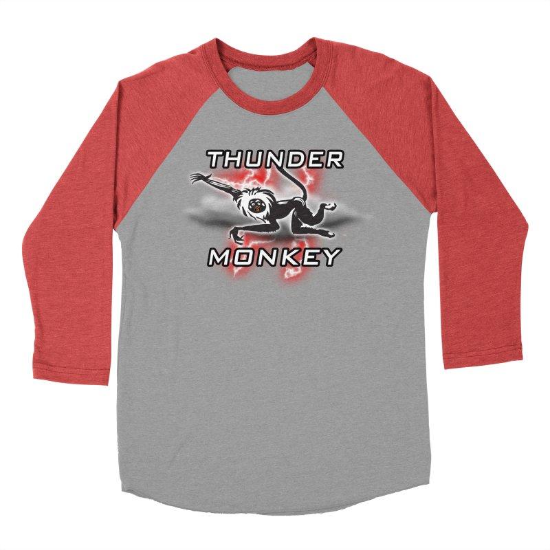 Thunder Monkey 2 Men's Baseball Triblend T-Shirt by Vegetable Police