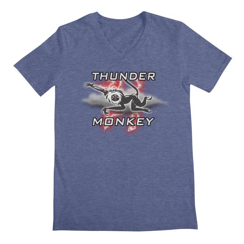 Thunder Monkey 2 Men's Regular V-Neck by Vegetable Police