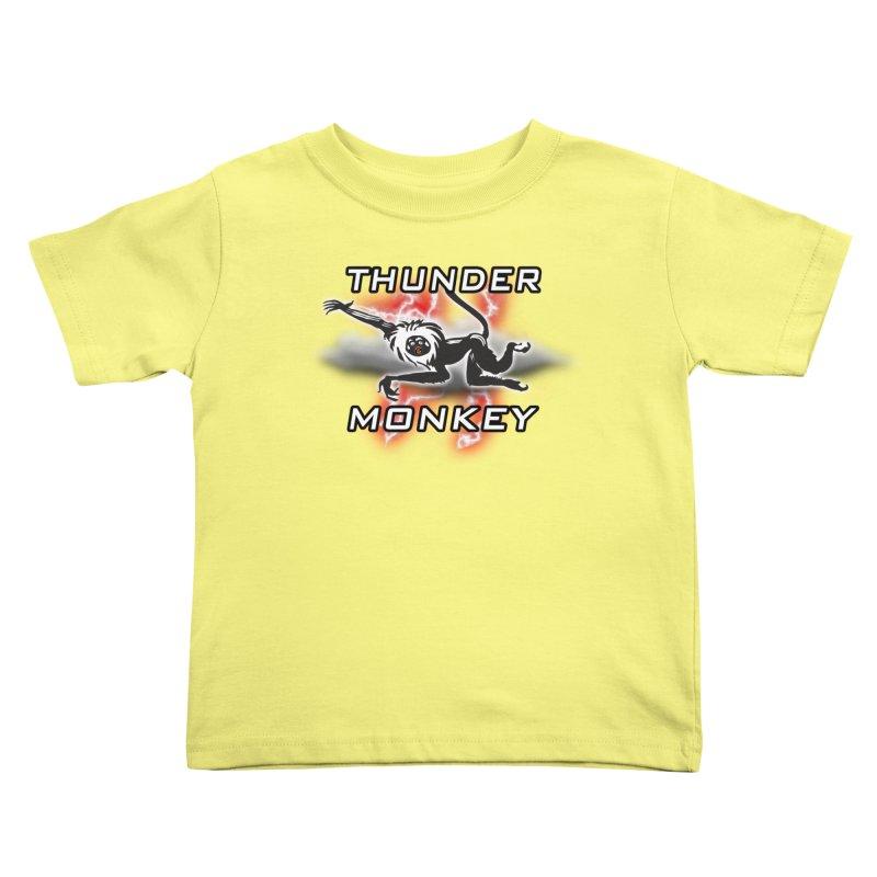 Thunder Monkey 2 Kids Toddler T-Shirt by Vegetable Police