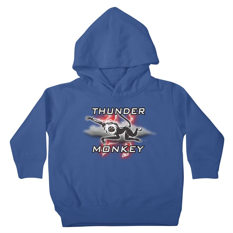 Thunder Monkey 2 Kids Toddler Pullover Hoody by Vegetable Police
