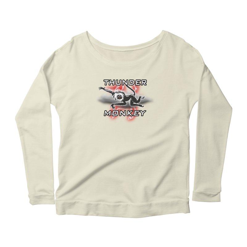 Thunder Monkey 2 Women's Scoop Neck Longsleeve T-Shirt by Vegetable Police