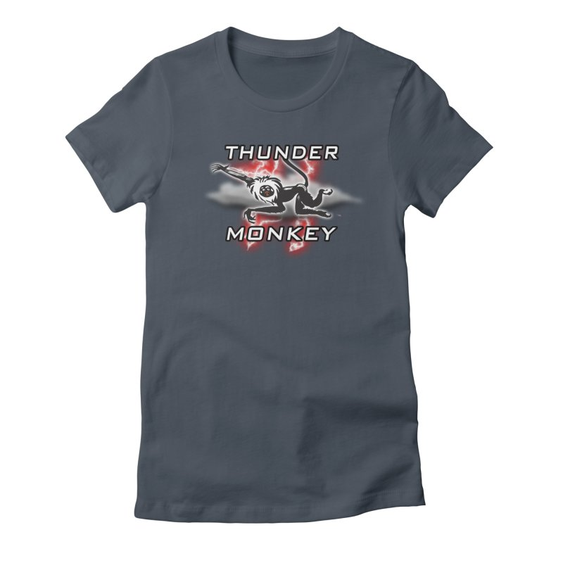 Thunder Monkey 2 Women's Fitted T-Shirt by Vegetable Police