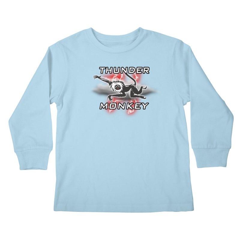 Thunder Monkey 2 Kids Longsleeve T-Shirt by Vegetable Police