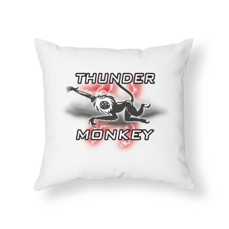 Thunder Monkey 2 Home Throw Pillow by Vegetable Police