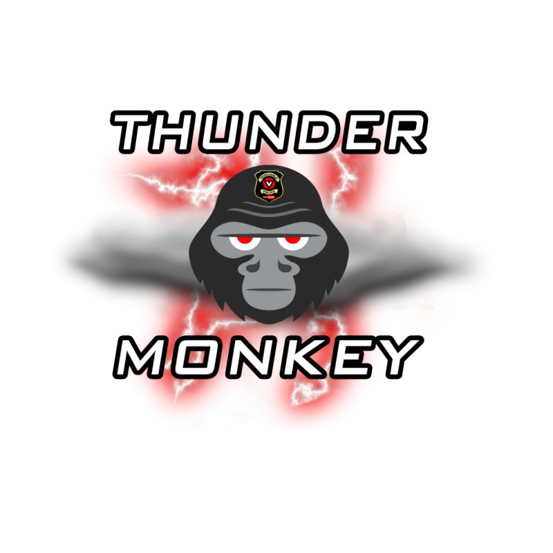 Thunder Monkey Women's V-Neck by Vegetable Police