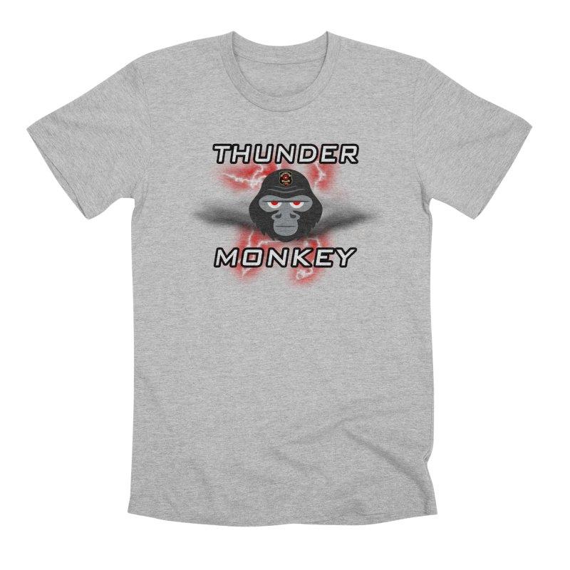 Thunder Monkey Men's Premium T-Shirt by Vegetable Police
