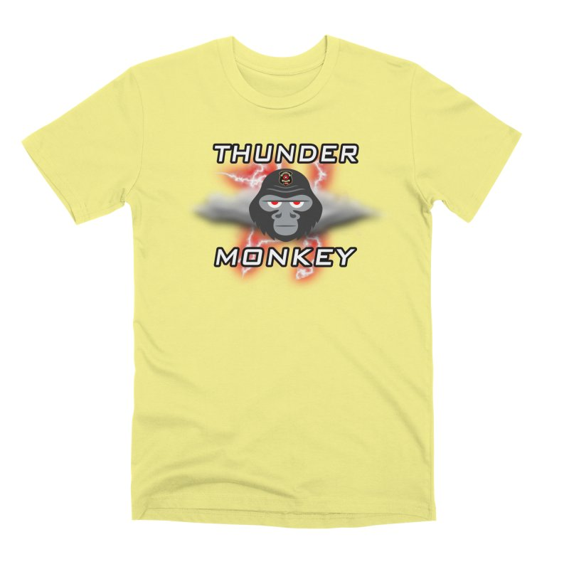 Thunder Monkey Men's Premium T-Shirt by Vegetable Police