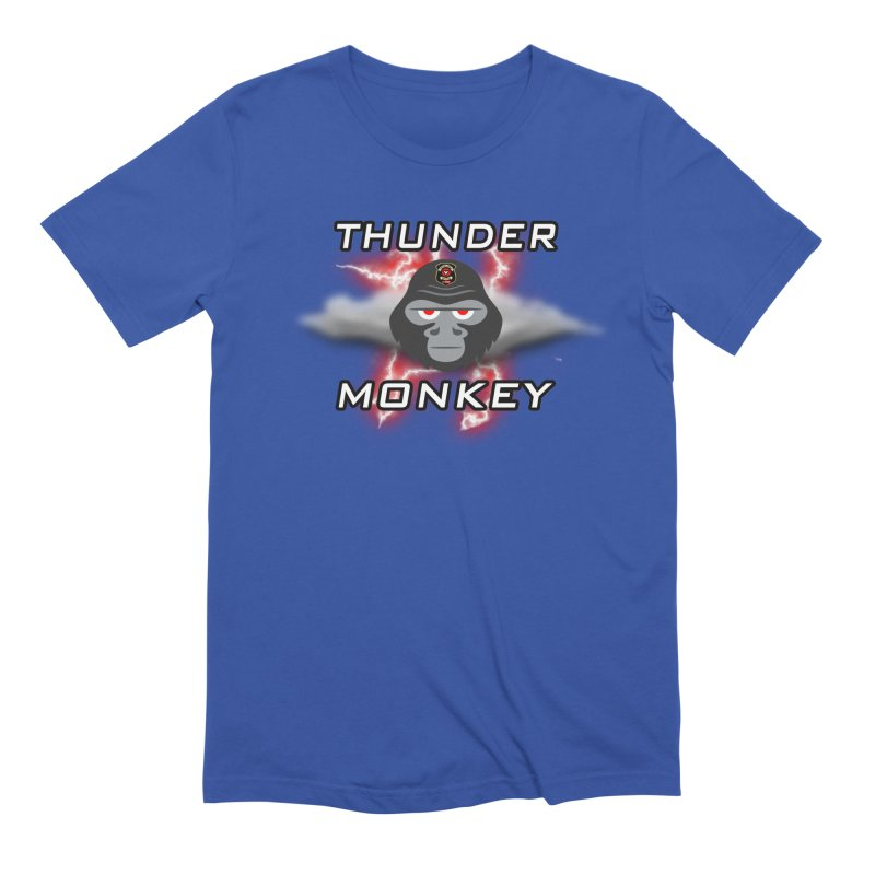 Thunder Monkey Men's T-Shirt by Vegetable Conspiracies