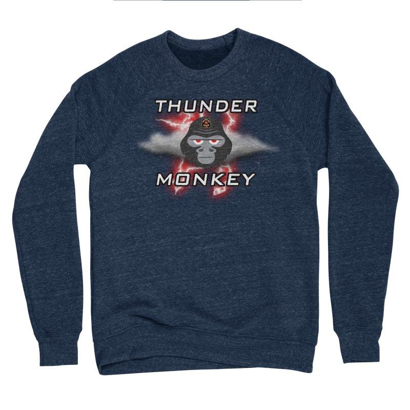 Thunder Monkey Men's Sponge Fleece Sweatshirt by Vegetable Police