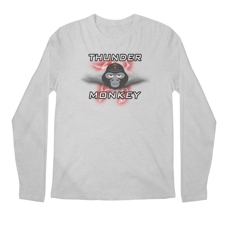 Thunder Monkey Men's Regular Longsleeve T-Shirt by Vegetable Police