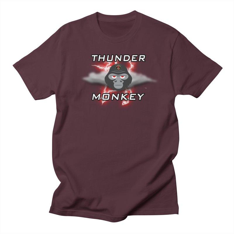 Thunder Monkey Men's T-Shirt by Vegetable Conspiracies