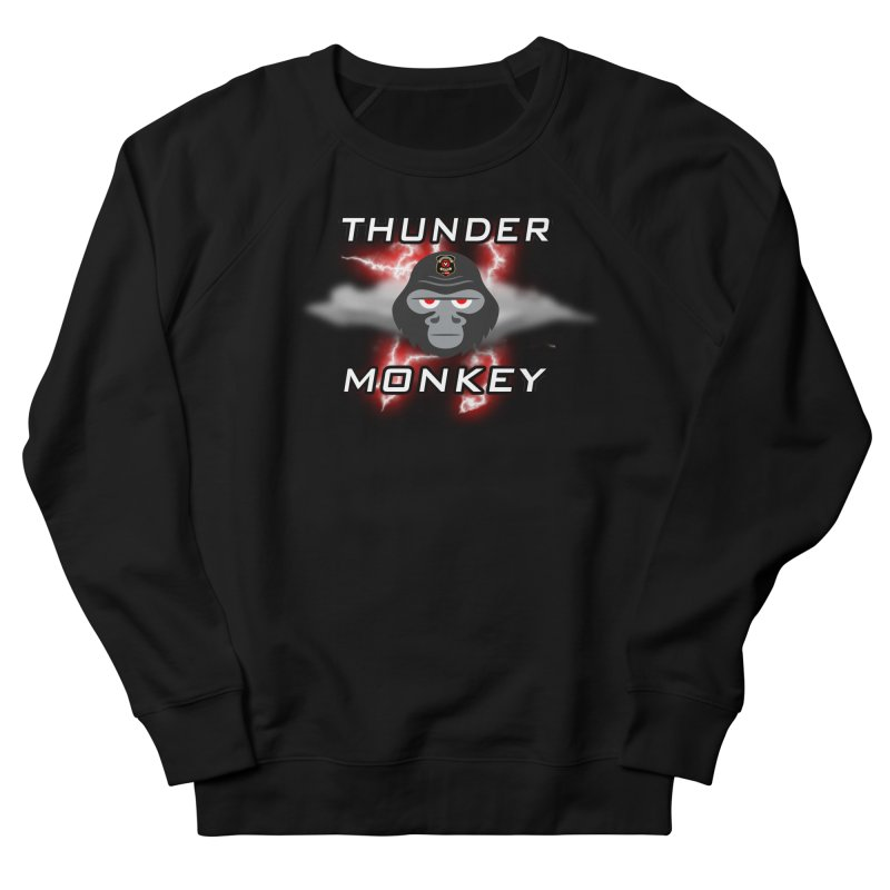 Thunder Monkey Women's French Terry Sweatshirt by Vegetable Police