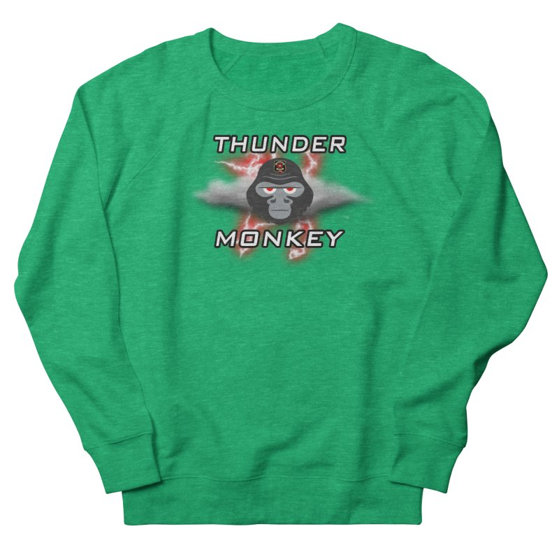 Thunder Monkey Men's Sweatshirt by Vegetable Conspiracies