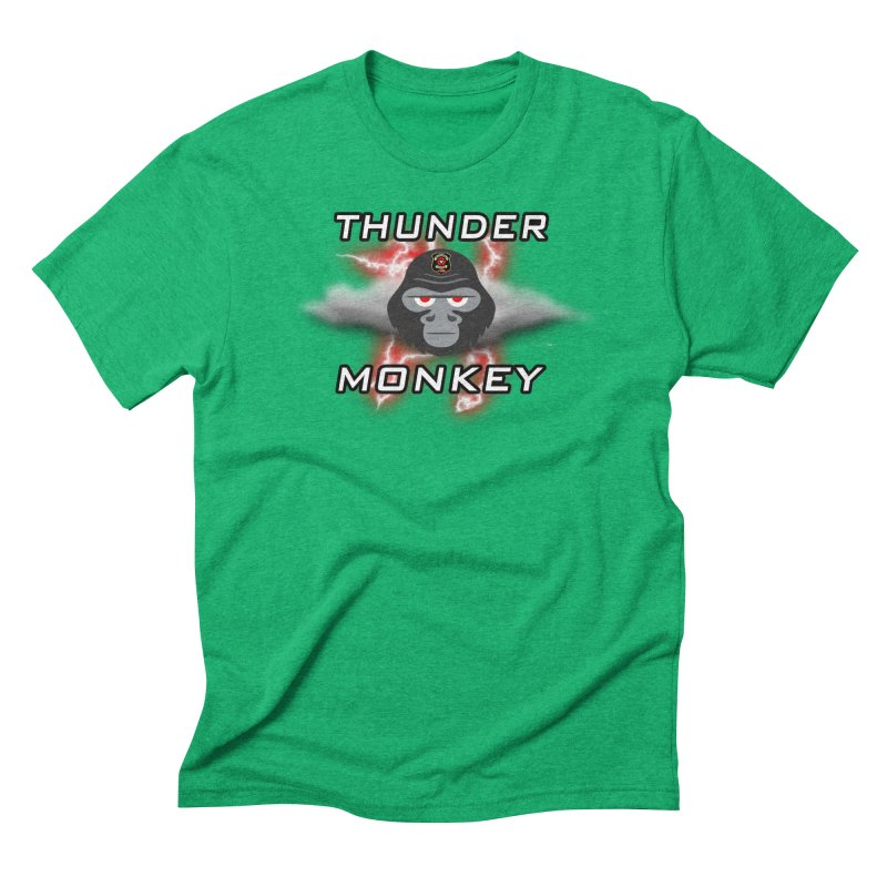 Thunder Monkey Men's Triblend T-Shirt by Vegetable Police