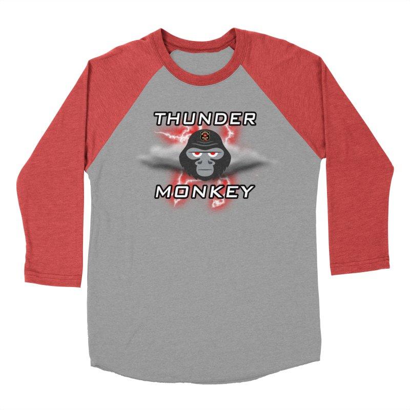 Thunder Monkey Men's Baseball Triblend Longsleeve T-Shirt by Vegetable Police