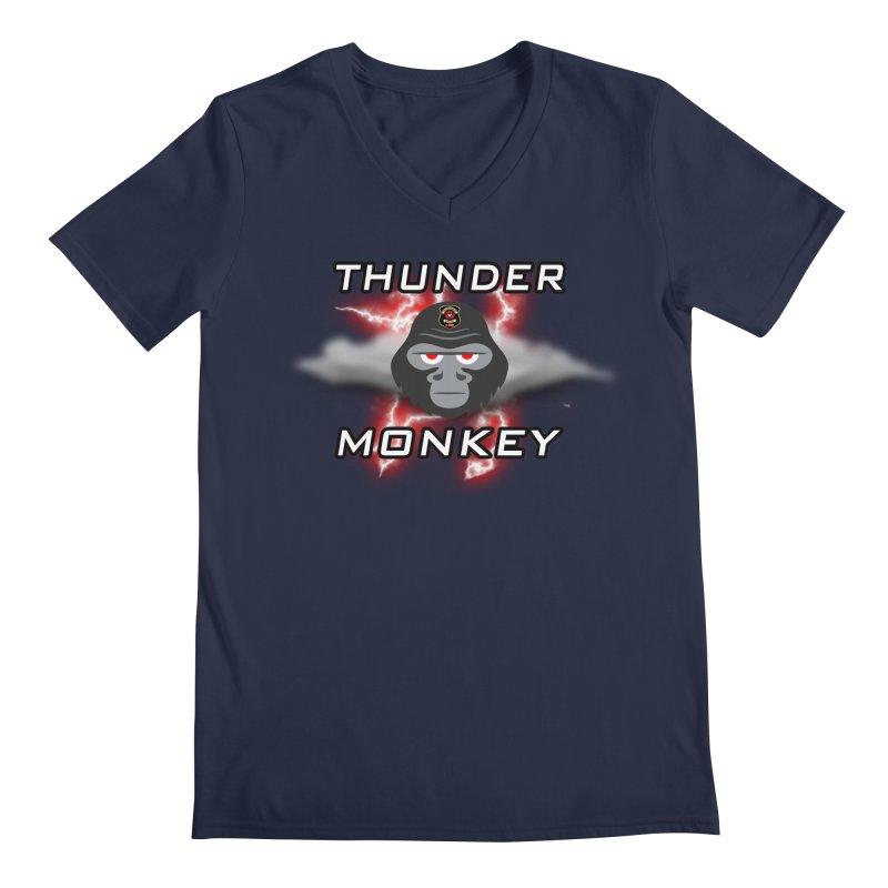 Thunder Monkey Men's V-Neck by Vegetable Police